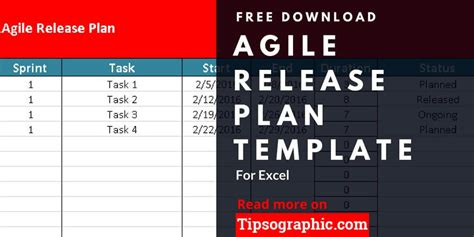 release plan template agile release plan template for excel free