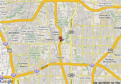 us map dallas texas map of intercontinental dallas dallas