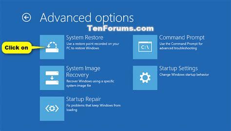 resetting hp windows 10 system restore windows 10 windows 10 tutorials