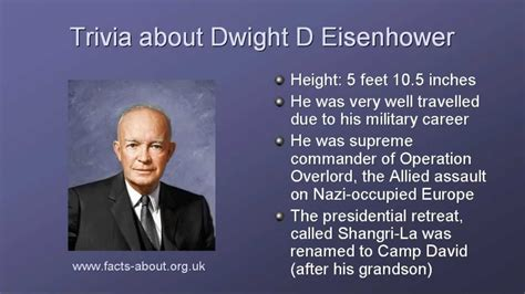 what is biography information president dwight d eisenhower like success
