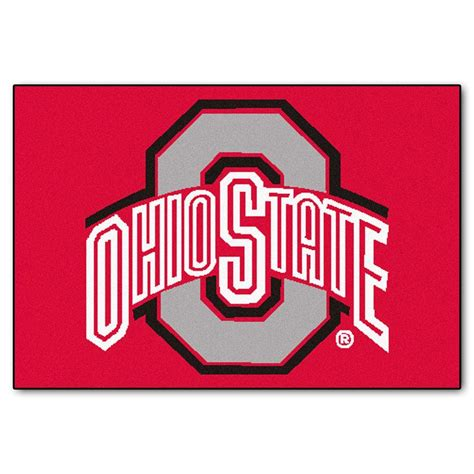Ohio State Outdoor Rug Fanmats Ohio State 19 In X 30 In Accent Rug 1515 The Home Depot