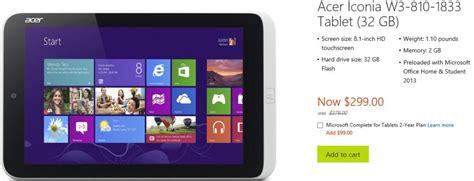 Harga Acer Iconia W3 harga acer iconia w3 turun menjadi 2 9 jutaan katalog