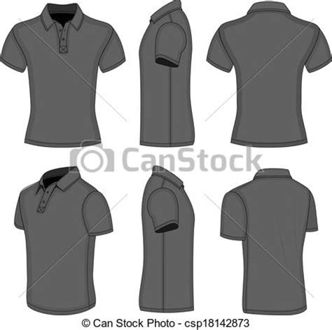 Baju Top Lyka 13 Black vectors illustration of s black sleeve polo