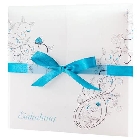 Einladungskarten Hochzeit Blau by Einladungskarte Hochzeit Liebesranken T 252 Rkis