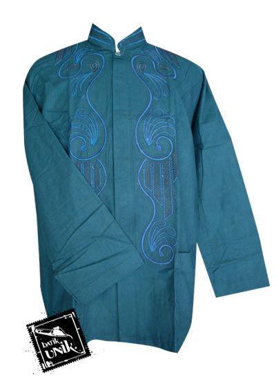 Baju Koko Ihsan Motif Batik baju batik koko katun motif aplikasi bordir koko batik