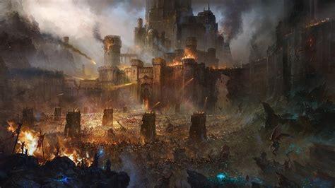 now hd wallpaper castle siege army battle