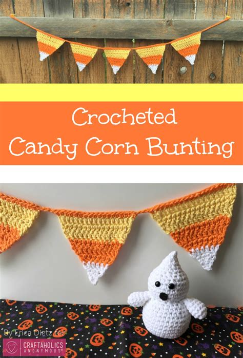 craftaholics anonymous crocheted candy corn bunting