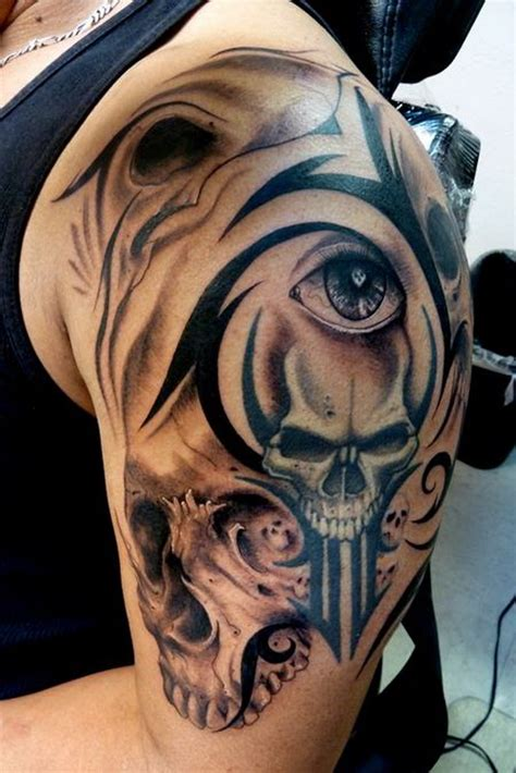 skull and tribal sleeve tattoos 30 amazing tribal designs for