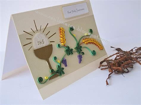 Handmade Communion Cards - quilled handmade cards szalonaisa s another