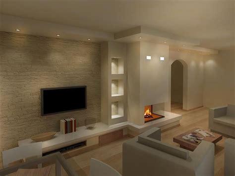 render camini moderni  bedrooms nel  pareti