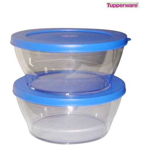 tupperware clear bowl set 990 ml each buy at best