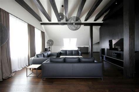 Merveilleux Cuisine Bois Massif Moderne #7: logement-de-ville-noir-blanc-amenage-dans-les-combles.jpg