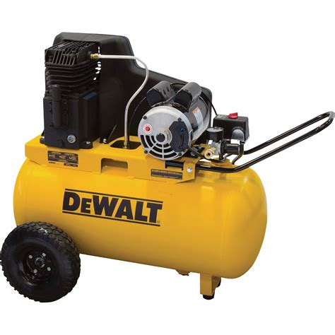 dewalt portable electric air compressor 1 9 hp 20 gallon horizontal 5 7 cfm model