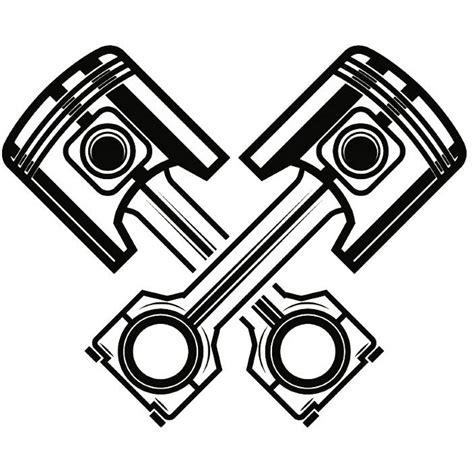 Motorrad Tattoo Vorlagen Gratis by Mechanische Logo 20 Kolben Gekreuzte Zylinder Motor Auto Auto