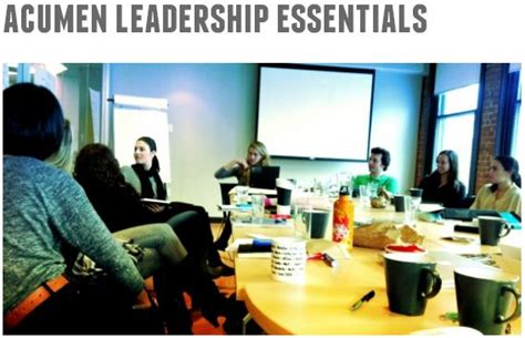 Acumen Mba Internship by Register Now The Acumen Leadership Essential Course