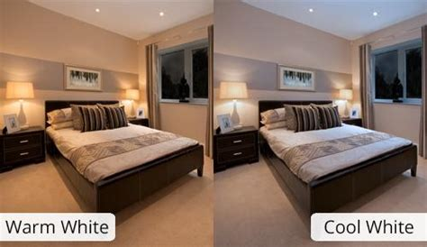 what color light bulb for bedroom cool white vs warm white