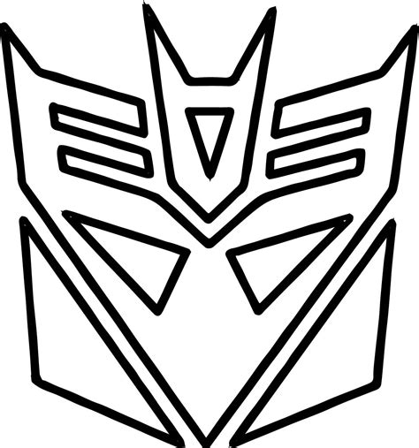 transformers logo coloring pages transformers logo coloring page wecoloringpage