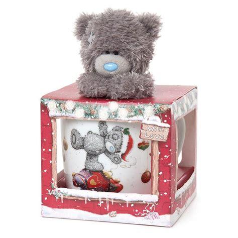 christmas me to you bear mug plush gift set g01g0364