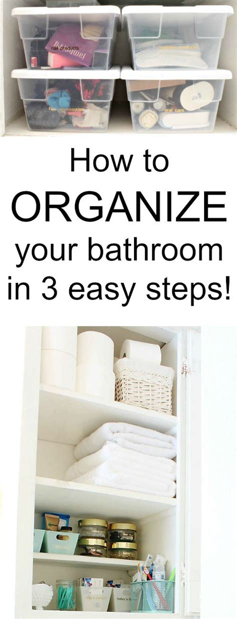 how to organize bathroom how to organize your bathroom in 3 easy steps classy clutter