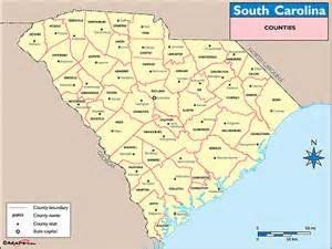 south carolina counties and county seats map by maps
