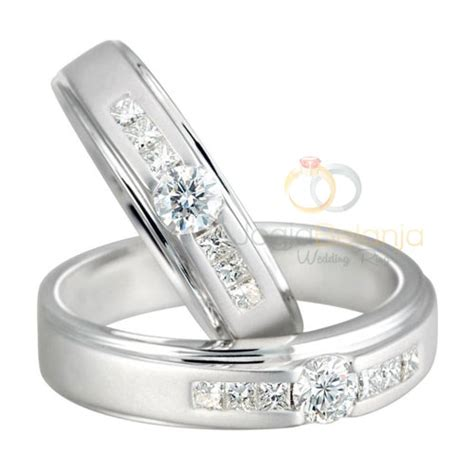 Cincin Emas Pasangan Sepasang P1343 5 cincin kawin palladium terbaik untuk pasangan muslim cincin kawin emas