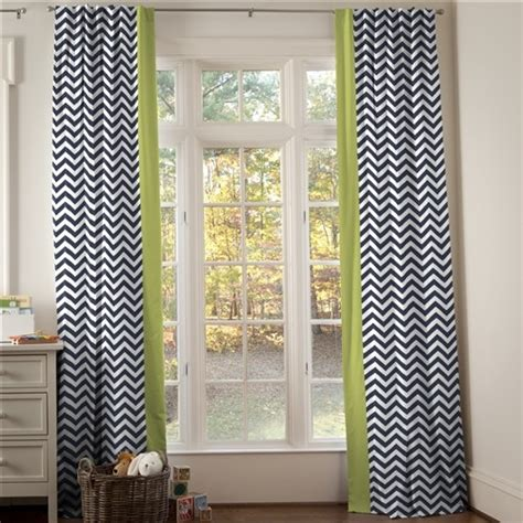 citron colored curtains navy and citron zig zag hidden tab drapes with vertical