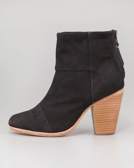 rag bone newbury suede leather ankle boot black