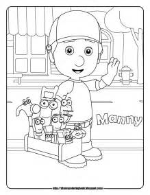 Handy Manny Tools Coloring Pages handy manny 1 free disney coloring sheets learn to coloring