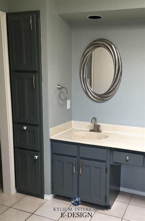 beige and gray bathroom bathroom with almond bone beige fixtures and countertop