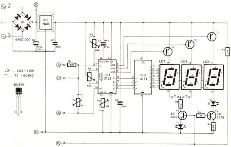 digital voltmeter circuit diagram gt circuits gt digital voltmeter and ammeter circuit module