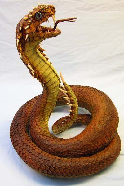 How To Make A Paper Mache Snake - paper mache snake sculpture crafts made from papier