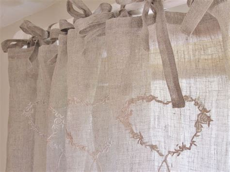 linen voile curtains uk heart linen voile curtain x 1 bliss and bloom ltd