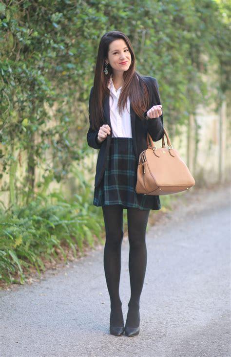 Buttoned Plaid Skirt blazer black plaid skirt diary of a debutante
