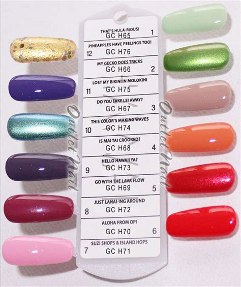 opi gel nail colors opi soak gelcolor hawaii collection summer 2015
