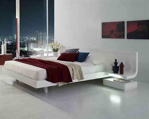 platform bed with built in nightstands lacquer platform bed w built in nightstands led lights