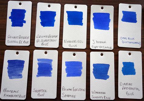 blue ink comparison of 73 bottled pen inks the unroyal warrant