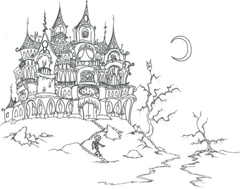 scary haunted house coloring pages scary haunted house coloring book