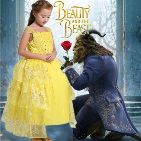 2017 movie beauty and the beast princess belle dress 2017 movie beauty and the beast belle cosplay costume kids