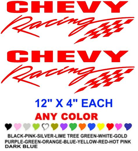 Racing Sticker Design by Chevy Racing Sticker Decals Race