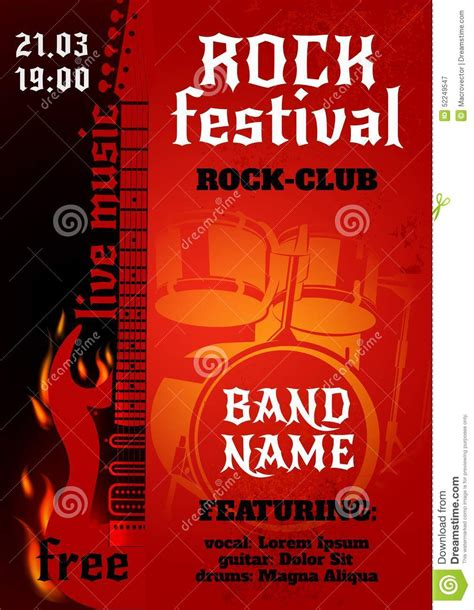 affiche de concert de rock illustration de vecteur image