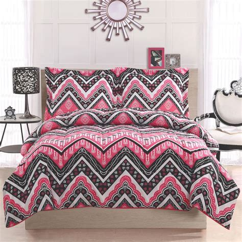 pink chevron bedroom pink and black chevron bedding set decorating