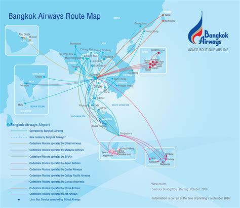 map route route map bangkok airways