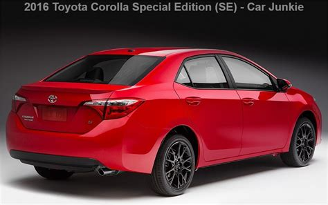 Toyota Corolla 2016 Special Edition 2016 Toyota Corolla Special Edition Price Specs Reviews