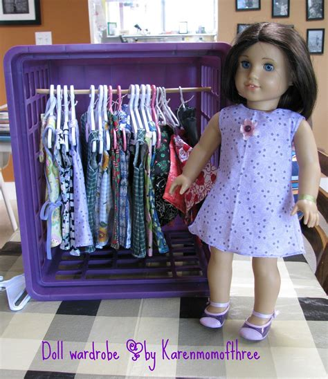 Wardrobe For Dolls by Of Three S Craft Make Your Own Doll Wardrobe For 10
