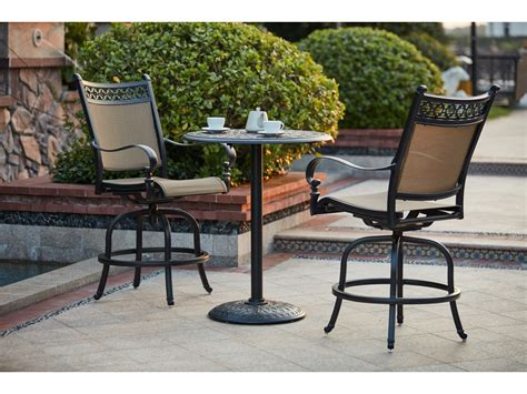 Outdoor Counter Height Swivel Bar Stools by Darlee Outdoor Living Standard Mountain View Cast Aluminum