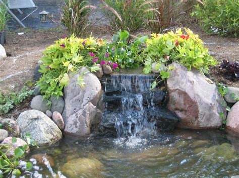 backyard pond pictures with waterfalls pin by elizabeth baker on landscape ideas pinterest