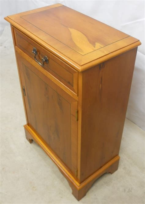 yew bedroom furniture reproduction yew wood bedside cabinet sold