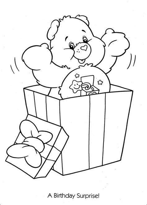 birthday bear coloring pages d 233 tective conan aves a 207 colouring pages