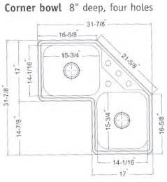 Corner Kitchen Sink Dimensions Corner Kitchen Sinks