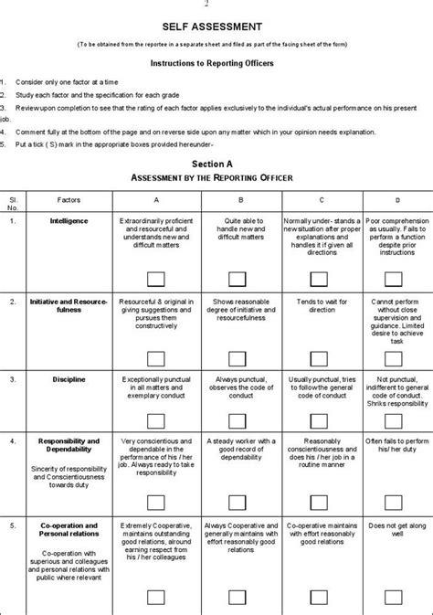 free basic employee self evaluation form from formville yokohma